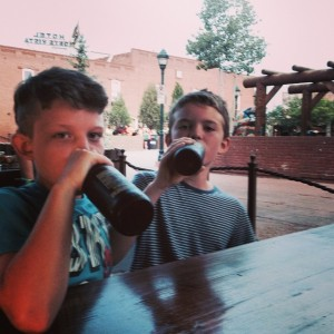 My boys are drinking (root) beer.